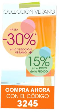 Colecci�n de VERANO con hasta -30%* en la selecci�n y -15%* en el resto de tu pedido con tu c�digo
