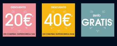 Hasta 40€ de descuento* y envío GRATIS*