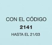 Con el código 2141