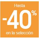 Hasta -40%
