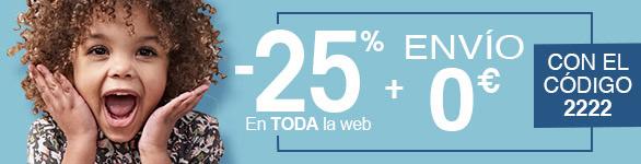 Ventas Flash -25 % em toda la web
