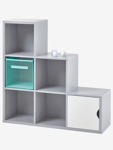 Mueble de almacenaje con 6 casilleros gris vertbaudet - Muebles para almacenaje ...