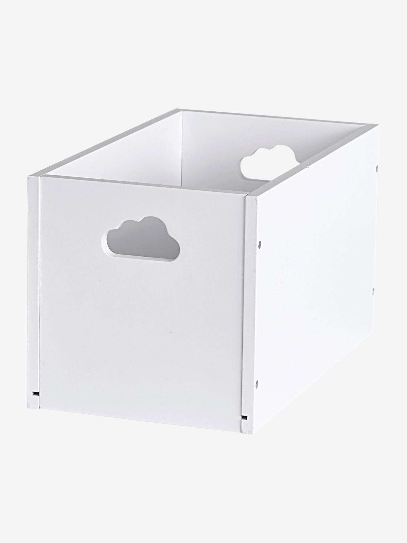 Caja de almacenaje de madera pintada blanco vertbaudet - Caja de almacenaje ...