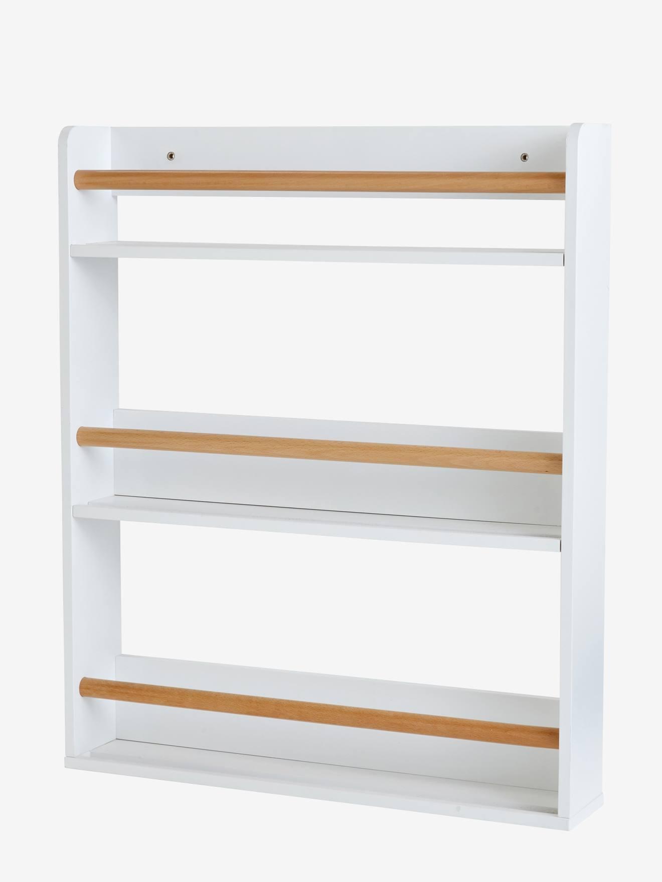 estantera para libros de niveles blanco madera