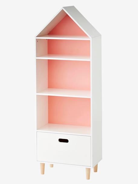Mueble de almacenaje casita con 5 casilleros blanco - Muebles de almacenaje para ninos ...