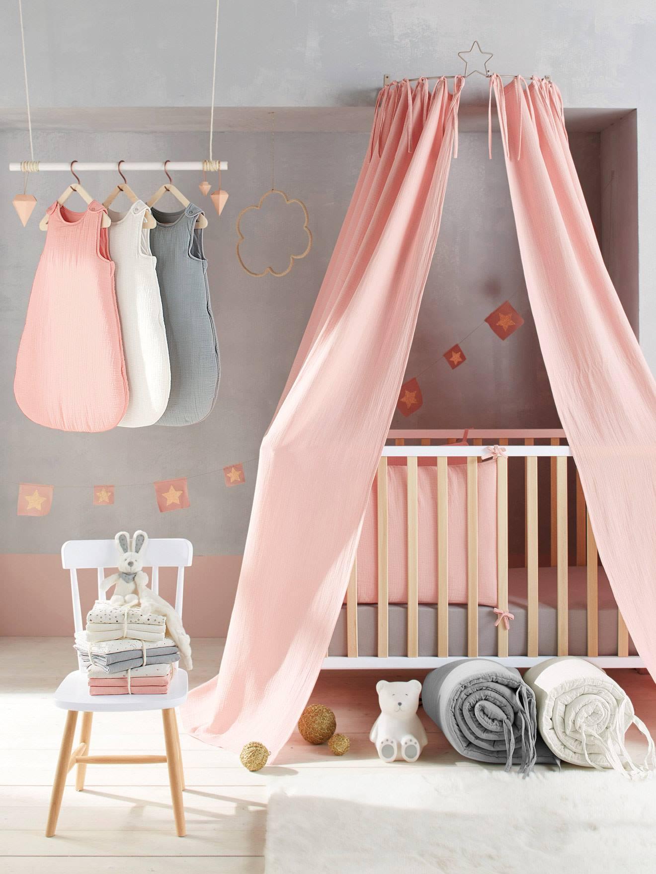 aro para cortina dosel nia gris with dosel para cama nia