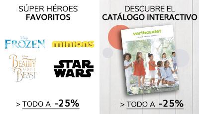 Súper Héroes y Catálogo interactivo ropa de fiesta