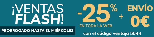¡Ventas FLASH! -25% en toda la web + Envío 0€