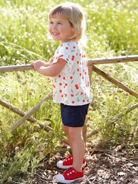 vertbaudet / Conjunto de 2 prendas, blusa y short, con motivos de frutas, para bebé blanco claro estampado