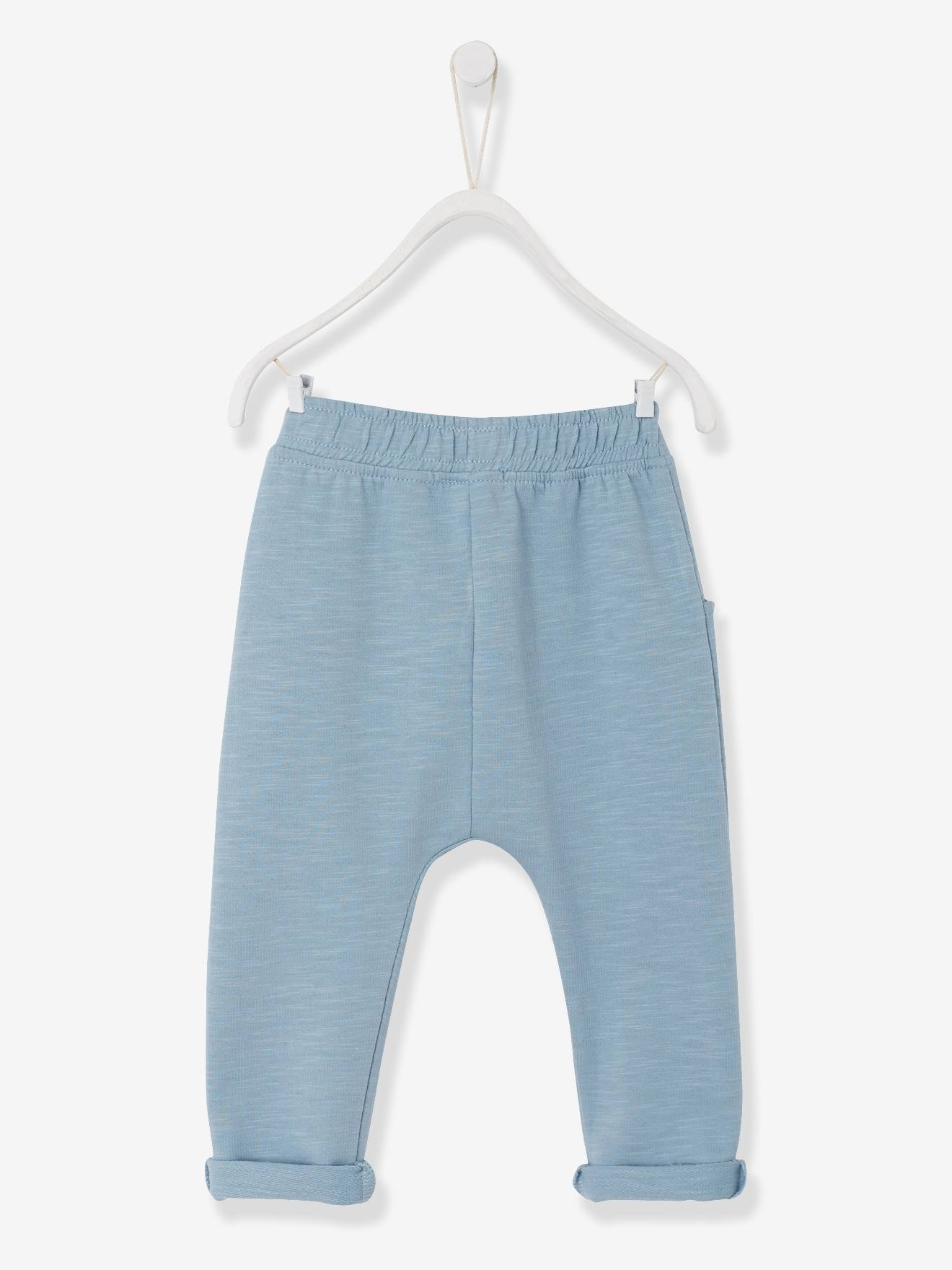 37cfe9917 Pantalón de felpa para bebé niño azul claro - Vertbaudet