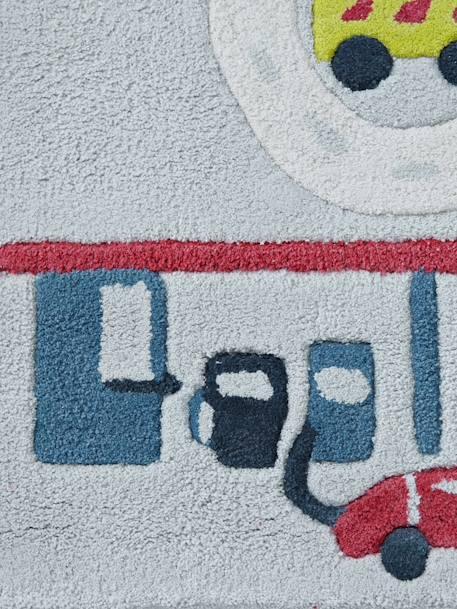 Alfombra con circuito de coches gris multicolor vertbaudet - Alfombra circuito coches ...
