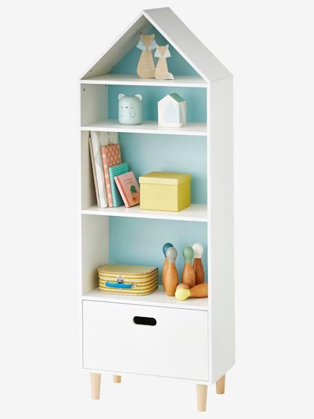 Mueble de almacenaje casita con 5 casilleros blanco - Mueble almacenaje juguetes ...