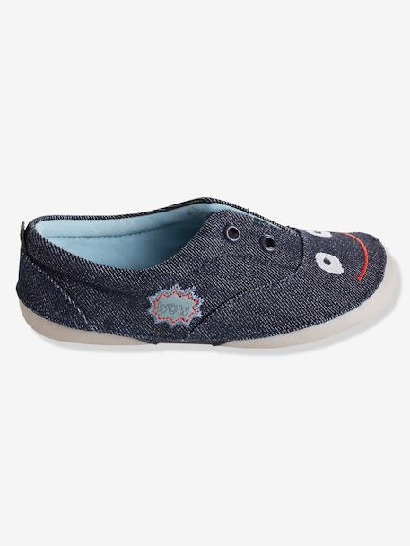 Zapatillas patucos de denim, para niño Azul denim