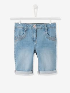 Denim-Bermudas denim niña