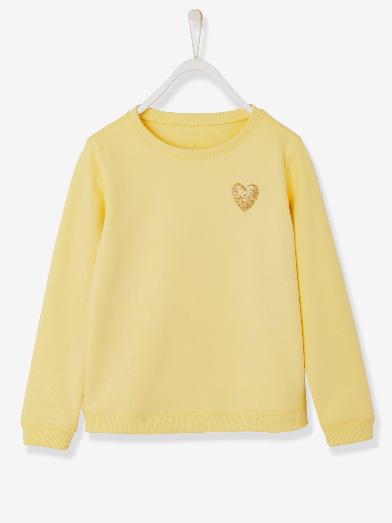 568b52073 Sudadera fantasía para niña amarillo claro liso con motivo 7021002336470