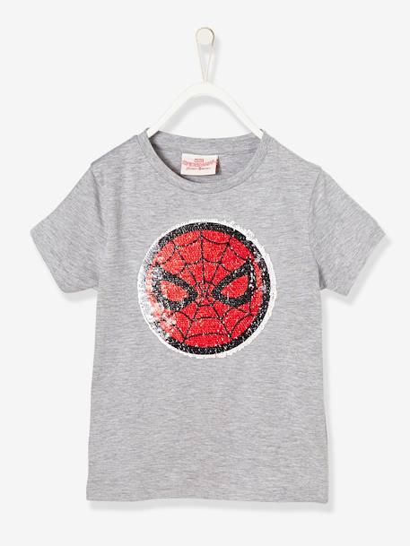 5e24b3d14 Camiseta para niño Spiderman® con lentejuelas reversibles Gris medio liso  con motivos ...