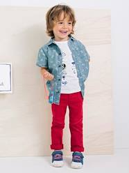 Camisa de denim estampado niño
