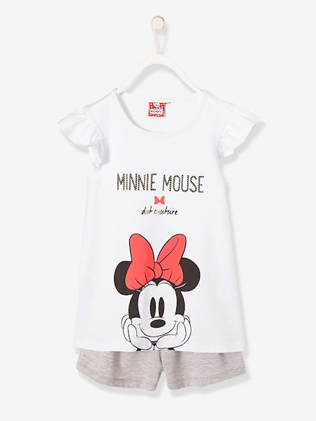 Pijamas-Pijama estampado con short niña Minnie®
