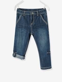 Pantalones y Vaqueros-Pantalón denim pesquero indestructible niño transformable en bermudas