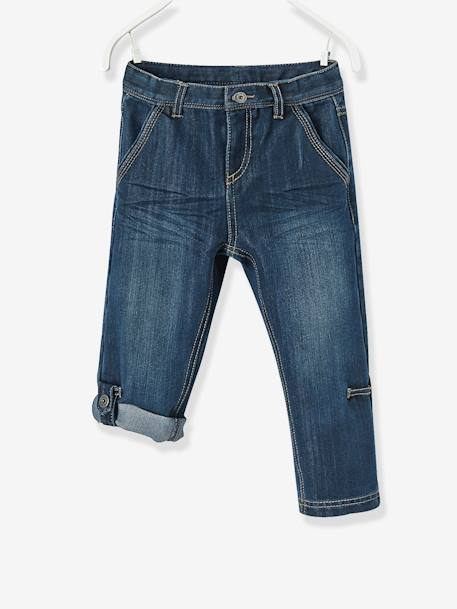 Niño-Pantalones-Pantalón denim pesquero indestructible niño transformable en bermudas