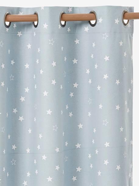 Cortina opaca con estrellas. azul   Vertbaudet