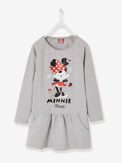 Marcas Mickey, Mini, StarWars e Frozen-Vestido estampado Minnie® de felpa