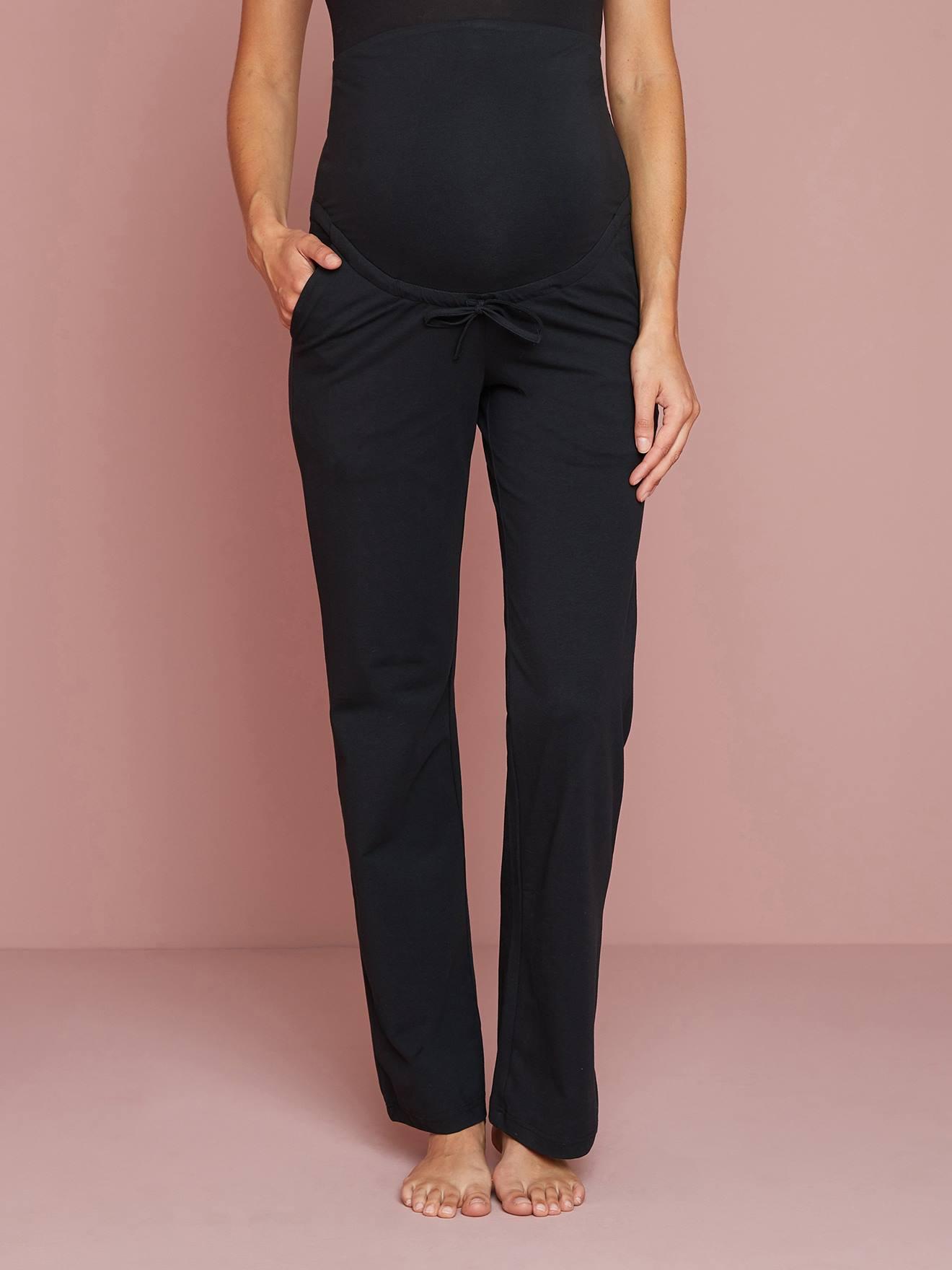 197f203e9 Pantalón para yoga de embarazo y post embarazo negro - Vertbaudet