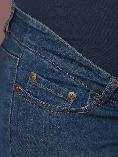 9f942eb30 Vaqueros slim stretch para embarazo con entrepierna 78 cm AZUL CLARO LAVADO+Denim  gris claro
