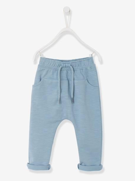 Pantalón de felpa para bebé niño Azul claro+Azul oscuro liso+Naranja medio  liso 2a68ab281f9