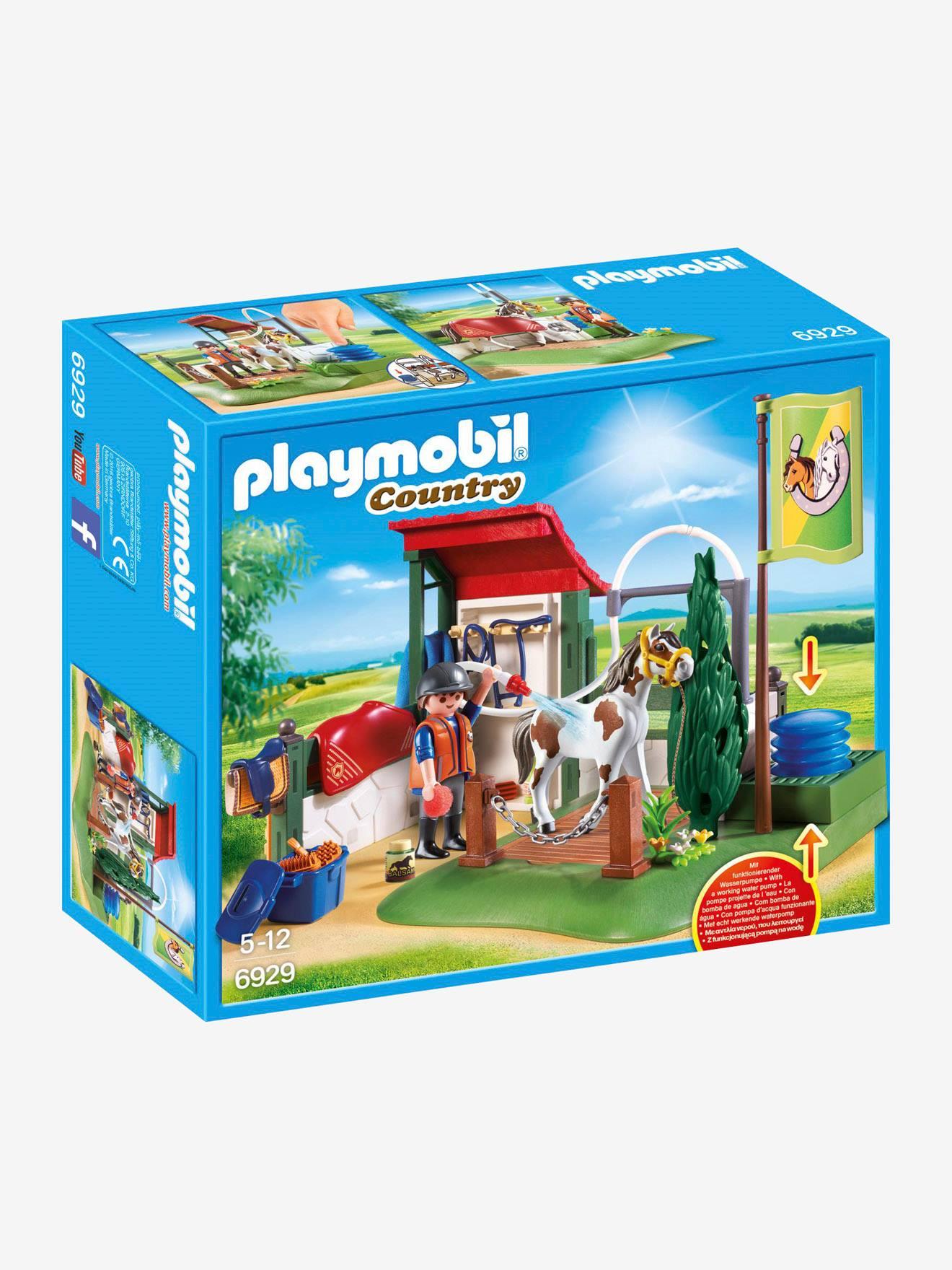 Claro Set Con Limpieza De Para Caballos 6929 Playmobil Liso Beige EbeWDH2IY9