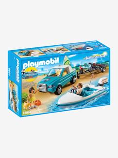 Juguetes-6864 Pick up con lancha Playmobil