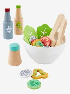 Happy Week-Juguetes-Set de ensalada de madera