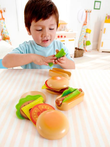Hamburguesas y hot-dogs de madera HAPE NO COLOR