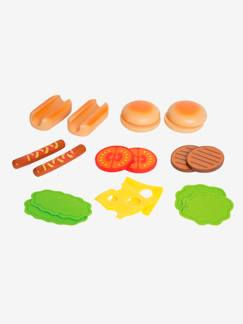Happy Week-Juguetes-Hamburguesas y hot-dogs de madera HAPE
