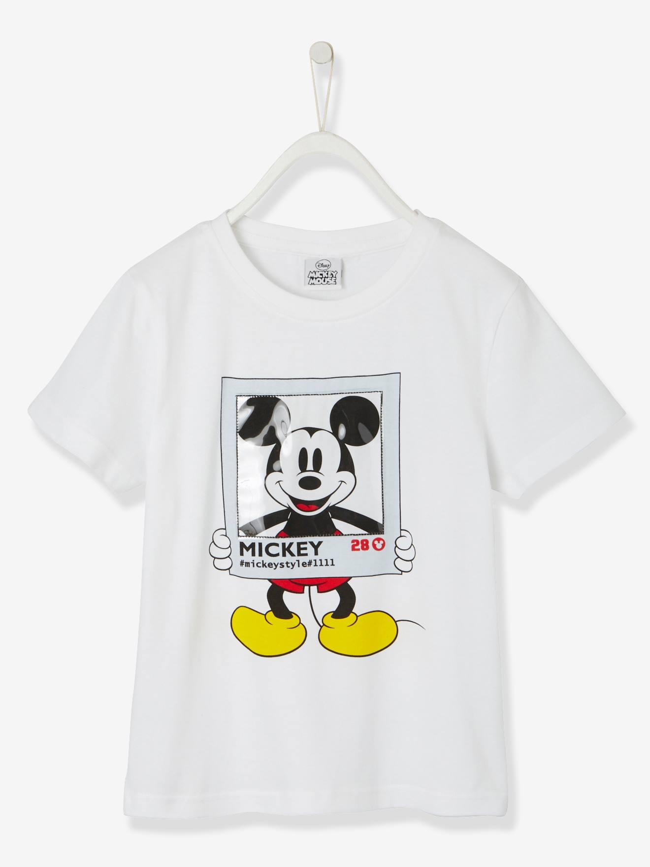 Manga Camiseta Motivos Blanco Mickey® Mickey De Liso Con Claro Corta 8wON0vmn