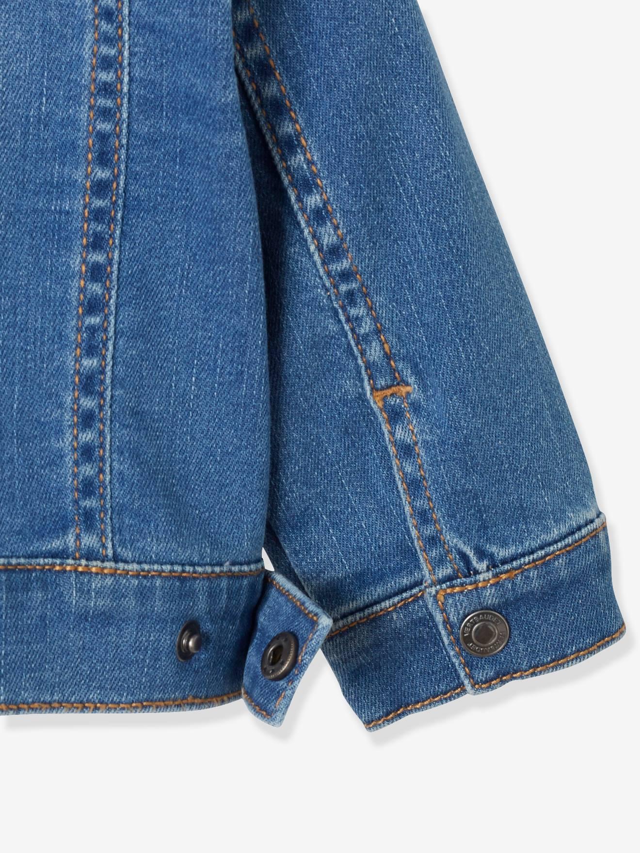 moda atractiva venta más caliente nueva lanzamiento Chaqueta vaquera para bebé niño con emblemas azul oscuro lavado - Vertbaudet