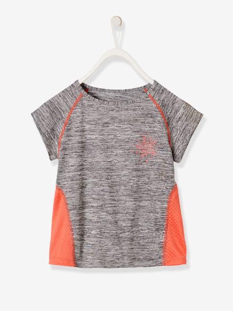 c922140bb Camiseta deportiva para niña de manga corta, con motivo de estrella Gris  medio jaspeado
