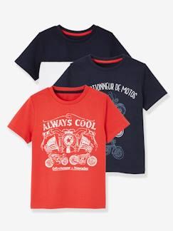 58ebf8690 Lote de 3 camisetas para niño de manga corta