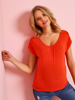 d8632de92 Camiseta de embarazo con acabado de encaje de algodón