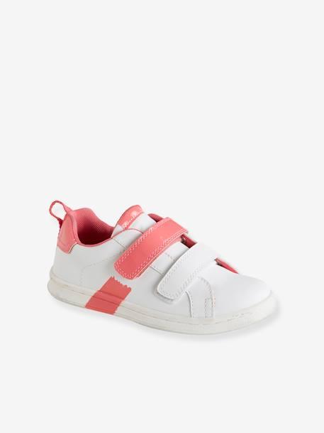 de8f465e Zapatillas con tiras autoadherentes para niña BLANCO CLARO LISO CON  MOTIVOS+GRIS CLARO METALIZADO