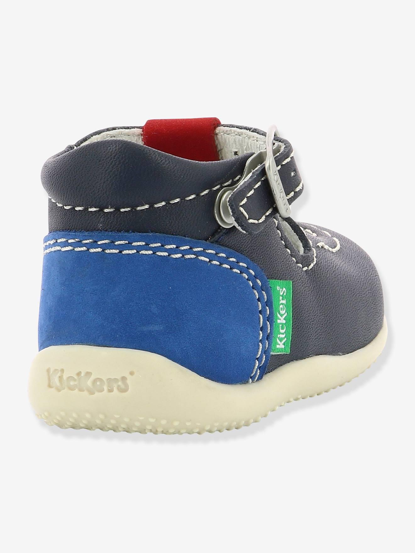 c8247fb4 De Azul Piel Kickers® Bonbek Liso Kickers Sandalias Bebé Oscuro QBrosdtCxh