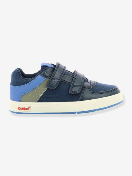 Zapatillas Sneakers Gready Low KICKERS® Azul oscuro liso+Gris medio liso