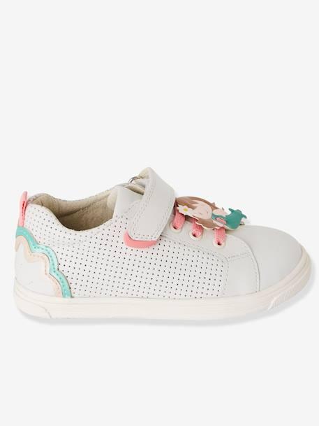 668244ae Zapatillas deportivas de piel niña especial autonomía Blanco claro liso con  motivos+BLANCO MEDIO LISO