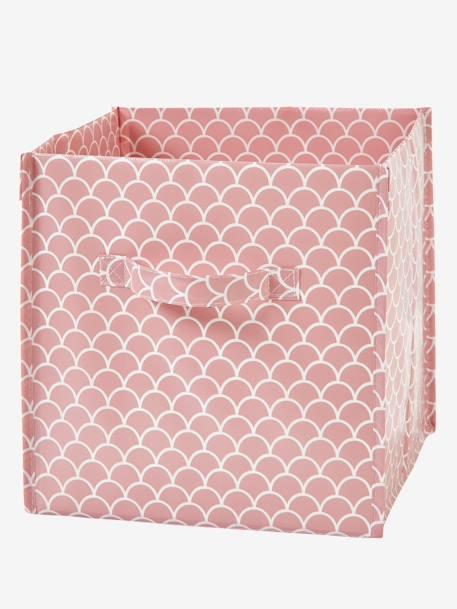 c655d48c7 Lote de 2 cajas para organización Blanco claro bicolor/multicolo+ROSA CLARO  LISO+