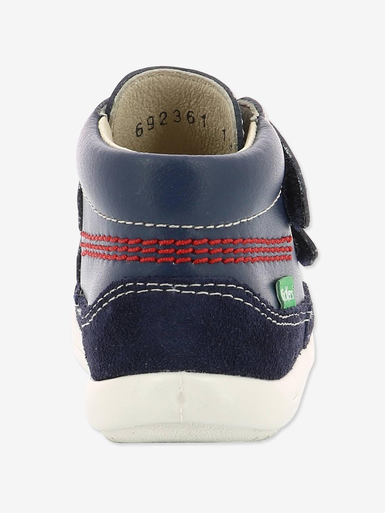 7810bccd8 Botines piel bebé Kimono KICKERS® azul oscuro liso - Kickers