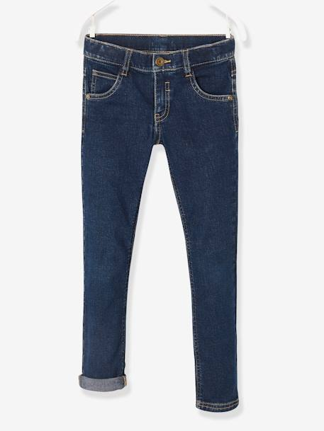 Vaqueros slim stretch niño Azul oscuro lavado+Denim natural