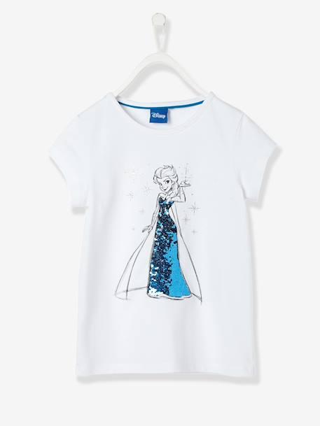 0a7f04add Camiseta con lentejuelas reversibles Frozen® niña Blanco claro liso con  motivos ...