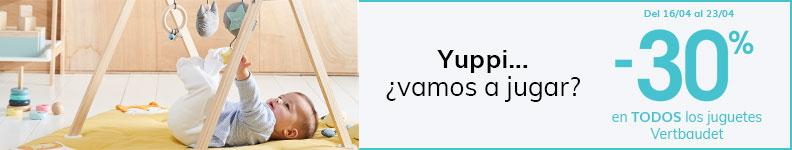 -30% en TODOS los juguetes Vertbaudet