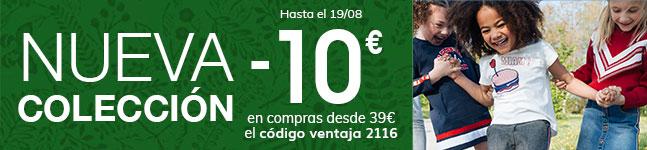 Nueva Colección -10€ en compras desde 39€