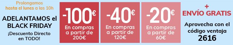 ADELANTAMOS el BLACK FRIDAY hasta 100€ en compras*
